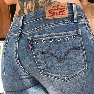 Levi's 711 ankle skinny jeans. Riveted pockets